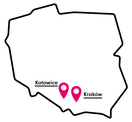 Mapa dostaw cateringu w Polsce