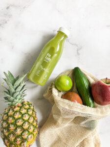 wartości odżywcze, alergeny - detoks sokowy z ananas, ogórek, jabłko, limonka, imbir